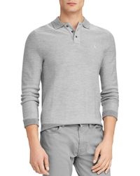 c11e248c Ralph Lauren Polo Hightwist Cotton Mockneck Sweater in Gray for Men - Lyst