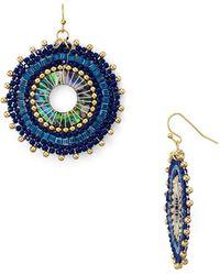 Aqua - Circular Drop Earrings - Lyst