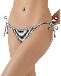 Reiss - Venice Stripe Side Tie Bikini Bottom - Lyst