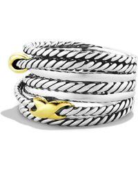 David Yurman - Double X Crossover Ring - Lyst