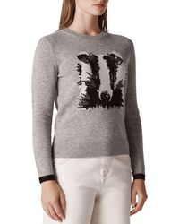 Whistles - Badger Intarsia Sweater - Lyst