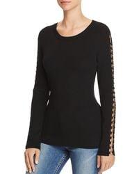 Bardot - Hardware Detail Rib-knit Top - Lyst