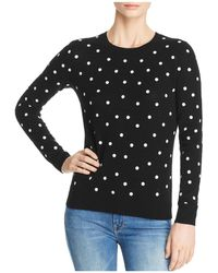 C By Bloomingdale's - Polka Dot Lightweight Cashmere Sweater - Lyst