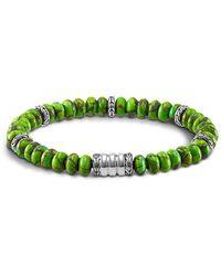 John Hardy - Men's Sterling Silver Bedeg Beaded Bracelet With Mohave Green Turquoise - Lyst