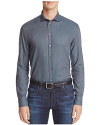 Armani - Solid Classic Fit Button-down Shirt - Lyst