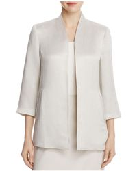 Eileen Fisher - Three Quarter Sleeve Long Jacket - Lyst