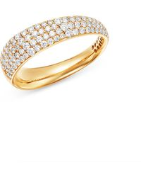 Roberto Coin - 18k Rose Gold Scalare Pavé Diamond Ring - Lyst