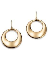 Bloomingdale's - Round Drop Earrings In 14k Yellow Gold - Lyst