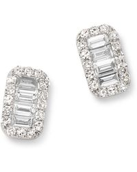 KC Designs - 14k White Gold Mosaic Diamond Stud Earrings - Lyst