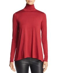 Three Dots - Relaxed Turtleneck Top - Lyst