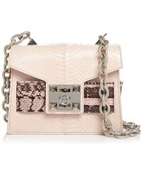 8058d9b63008 Marc Jacobs Mini Polly Flame Red Goat Leather Ayers Snakeskin ...