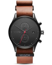 MVMT - Outback Leather-Strap Watch  - Lyst
