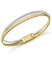 Marco Bicego - 18k White And Yellow Gold Masai Two Row Bracelet - Lyst