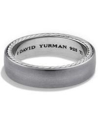 David Yurman - Streamline Narrow Band Ring - Lyst