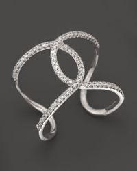 KC Designs - Diamond Interlocking Ring In 14k White Gold - Lyst