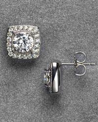 Nadri - Framed Crystal Stud Earrings - Lyst