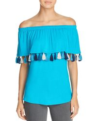 Kim & Cami - Tassel-trimmed Off-the-shoulder Top - Lyst