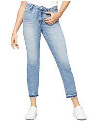 Sanctuary - Released Hem Straight Jeans In Abigail Wash - Lyst