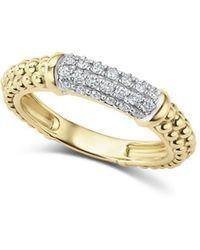 Lagos - Caviar Gold Collection 18k Gold & Diamond Ring - Lyst