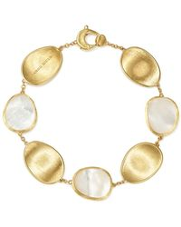 Marco Bicego - 18k Yellow Gold Lunaria Mother - Of - Pearl Bracelet - Lyst