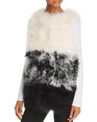 525 America - Color-blocked Feather Vest - Lyst