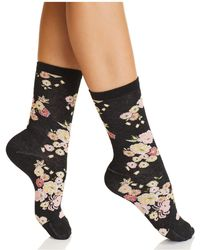 Natori - Saipan Floral Crew Socks - Lyst