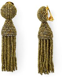 Oscar de la Renta - Short Tassel Clip-on Earrings - Lyst