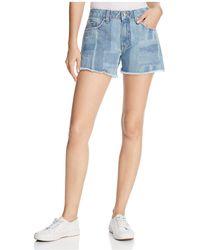 10 Crosby Derek Lam - Quinn Girlfriend Denim Shorts In Light Wash - Lyst