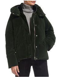 Whistles - Iva Velvet Puffer Jacket - Lyst