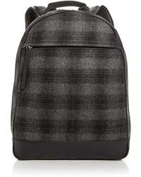 Bloomingdale's - Plaid Wool Backpack - Lyst