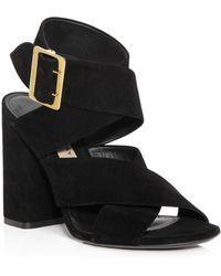 Burberry - Blaine High Block Heel Sandals - Lyst