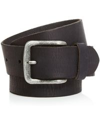 John Varvatos - Artisan Textured Leather Belt - Lyst
