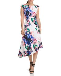 Donna Karan - New York Watercolor Floral Dress - Lyst