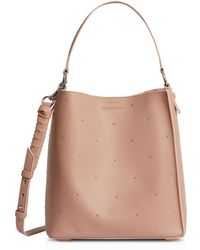AllSaints - Kathi North South Small Leather Tote - Lyst