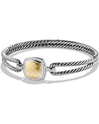David Yurman | Albion Bracelet With Diamonds And Gold | Lyst