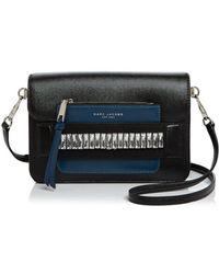 f3bfa834f Marc Jacobs - Madison Medium Embellished Saffiano Leather Shoulder Bag -  Lyst
