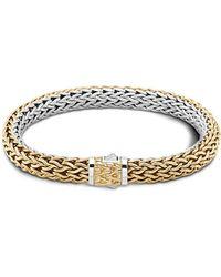 John Hardy | Classic Chain Gold And Silver Medium Reversible Bracelet | Lyst