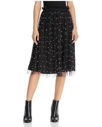 Re:named | Embellished Tulle Midi Skirt | Lyst