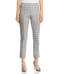 Kenneth Cole - Plaid Skinny Cropped Pants - Lyst
