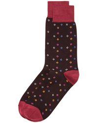 Bruno Magli - Multicolour Diamonds Socks - Lyst