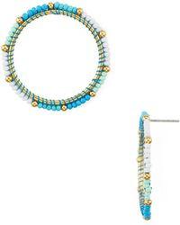 Rebecca Minkoff - Beaded Loop Drop Earrings - Lyst