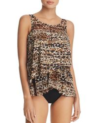 Miraclesuit - Wild Side Mirage Tankini Top - Lyst