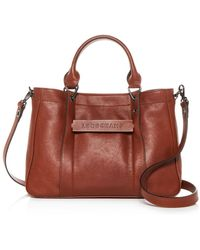 Longchamp - 3d Small Leather Tote - Lyst