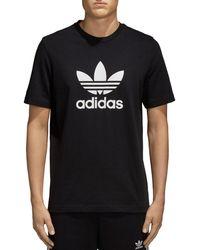 adidas Originals - Trefoil Logo Short Sleeve Tee - Lyst