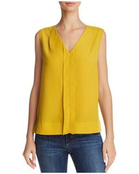 French Connection - Pleated Crepe Top - Lyst