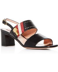 619b395520a Bally - Women s Cellese Slingback Mid-heel Sandals - Lyst