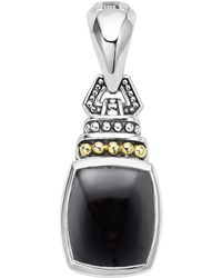 Lagos - 18k Gold And Sterling Silver Caviar Color Pendant With Black Onyx - Lyst