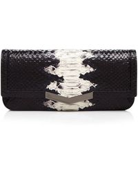 Time's Arrow - Snake-embossed Gya Clutch - Lyst