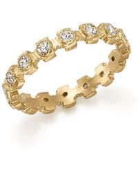 Armenta - 18k Yellow Gold Sueno Diamond Stacking Ring - Lyst