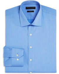 Bloomingdale's - Textured Solid Slim Fit Basic Dress Shirt - Lyst
